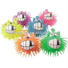 Cute cat puffer ball, funny fluffy plastic flashing toy