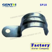 China manufacturing high quality emt one and two hole snap strap