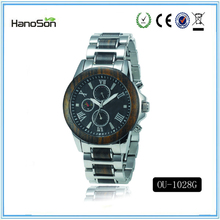 cheap wristwatch focus quartz chrono wooden watch private label shenzhen watch manufacturers
