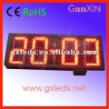 waterproof red counter outdoor big clock led digit display