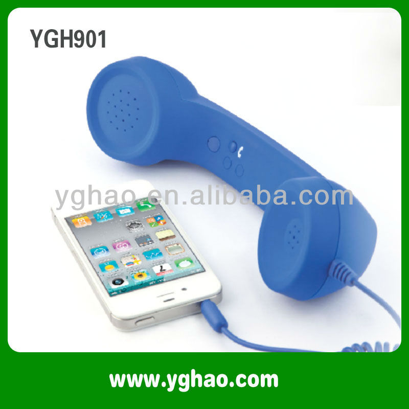 Anti-radiation corded mobile phone handset for Smart Phones and Laptops