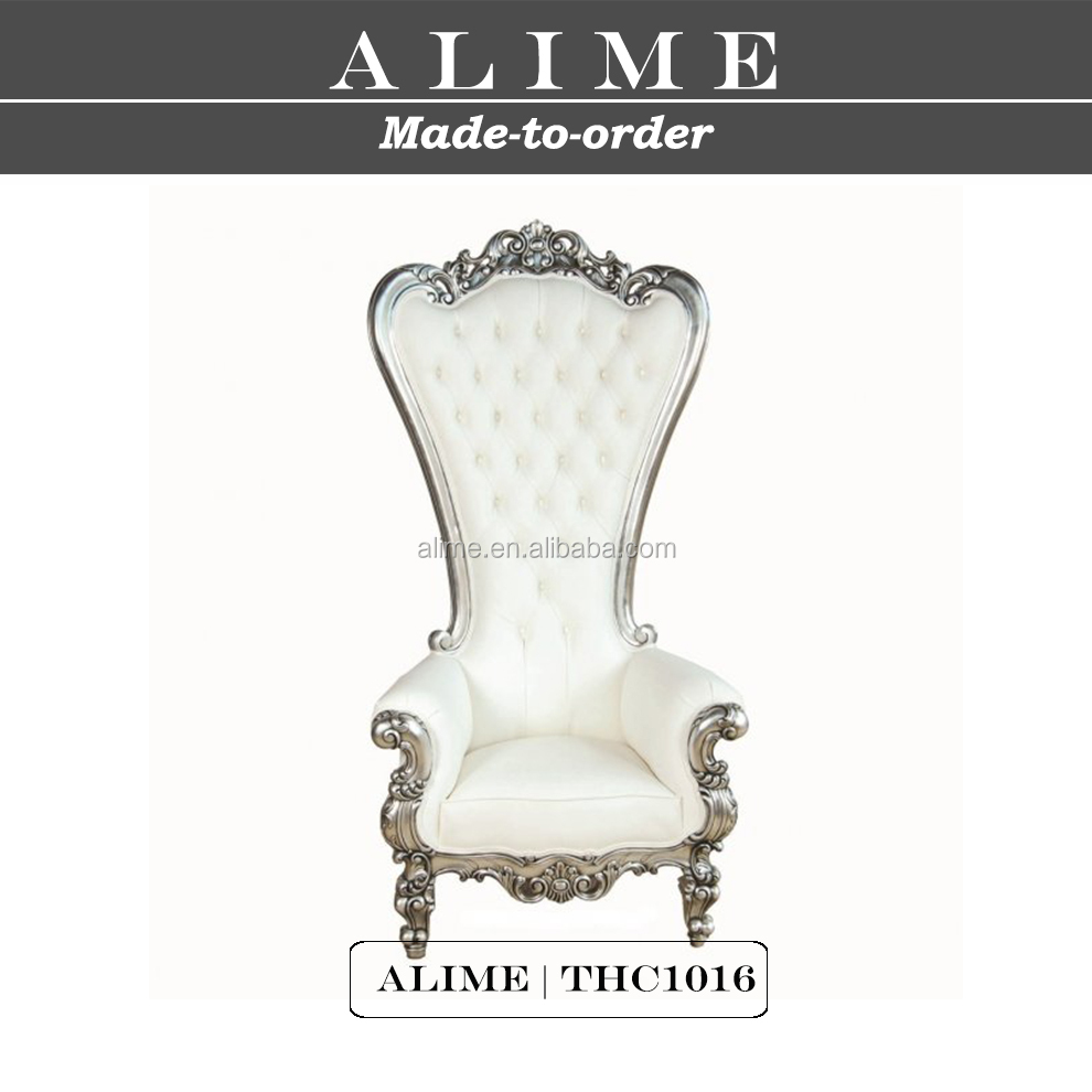 ALIME THC1016 French style silver throne chair