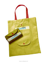 eco-friendly yellow color foldable shopping bag for sale