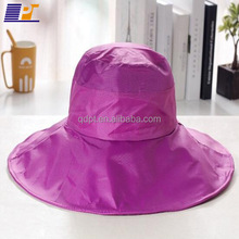 High quality women's waterproof cheap floppy folding rain hats