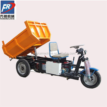 high-tech electric tricycle with hydraulic for cargo