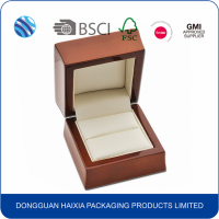 New design custom wooden wedding jewelry gift packaging box wholesale