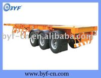 semi trailer, flat bed semi trailer