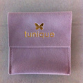 Custom velvet pouch envelope/jewelry bag with snap