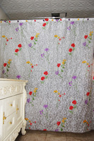 High quality waterproof floral sheer curtains