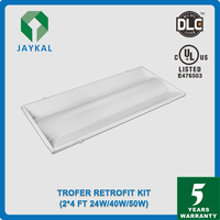 3000-5000K UL DLC listed led panel light 2x2 2x4 led troffer lighting
