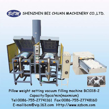 Silicon hollow polyester fiber opening and vacuum filling machine