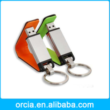 Popular promotional gift personalized leather keyring usb flash 2.0