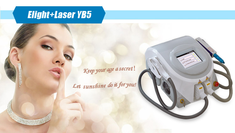 Salon use 2 in 1 ipl laser tattoo removal beauty machine with hair removal