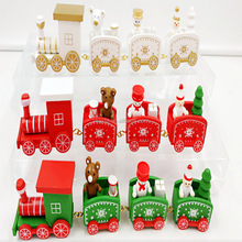 hot cutie train Christmas best gift for your kids Santa clause trains with 4 carriage