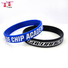 high quality bracelet debossed ink filled different colors silicone wristband