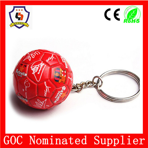 world cup Brazil 2016 ball keychain, custom logo countries ball keyring in mass production (HH-key chain-952)