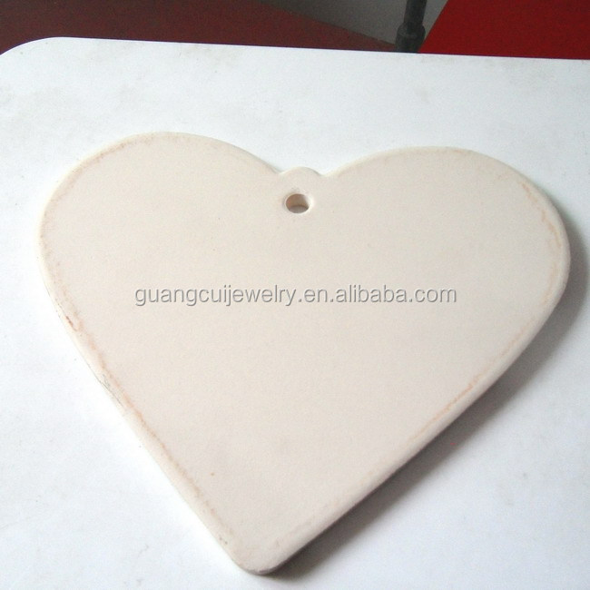 2016 New design heart ceramic coaster cup mat for wedding