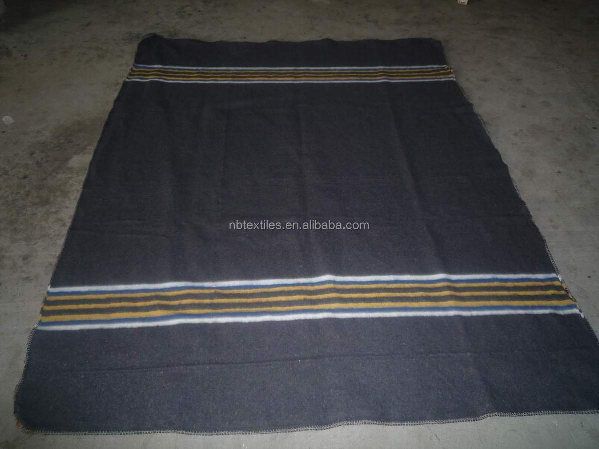 Cotton recycled wool blanket