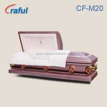 CF-M20 Purple Rose Metal Casket/American style coffin