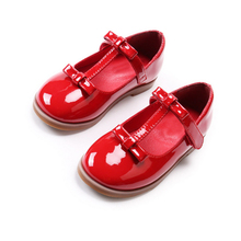 Autumn New Style Princess Cheap Wholesale Pu Lerather Latest Girl Footwear Design