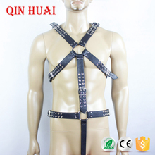 cheap sex toy strap on body adult leather harness restraints product sex male wearing bondage for man