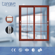 Tansive construction double glazed aluminium miniature wood doors
