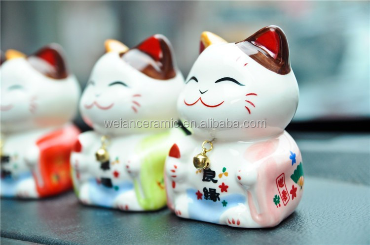 best selling hot 2017 gifts top selling ceramic lucky cat hanging crafts work diy kids christmas craft for kids