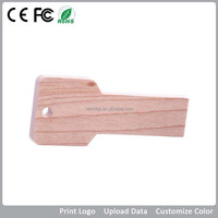 Wooden Key Shaped Customized case design usb flash drive