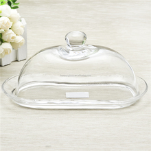 Handmade Clear Glass Butter Dish Kitchen Wares