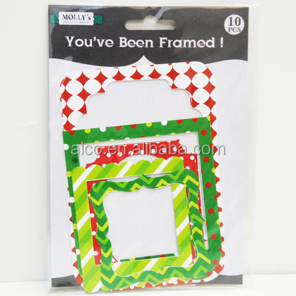 10pcs Chrismas scrapbook decorative frame paper photo frame