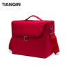 Professional Portable Popular Red Oxford Makeup Bag Cosmetic Case