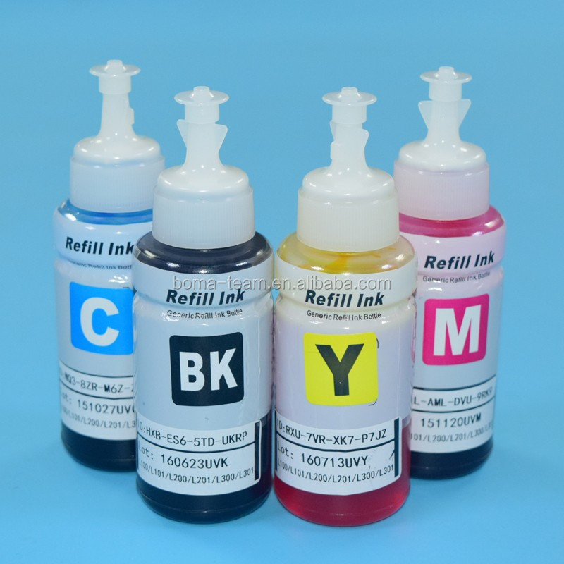 Non Oem Printing Ink Refill Kits For Epson L310 L101 L351 L455 L201 L360 L358 Eco Tank Ciss Printers Kit