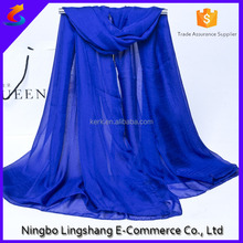 Cheap wholesale 2016 Spring Fashion 100 chiffon scarf long lady pashmina scarf