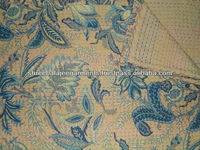 Indian Handmade Quilts, new printed designer handmade kantha quilt/blanket/Throw