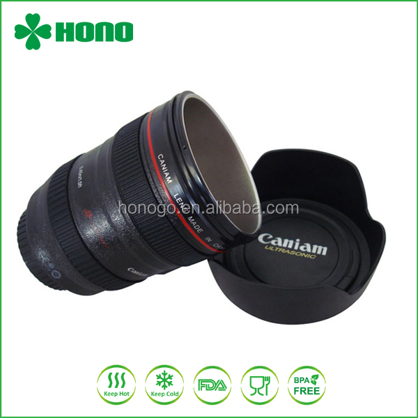 Custom camera lens stainless steel drinking cup for coffee