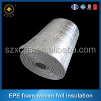 aluminum foil heating PET paded roof isolation material