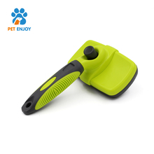Easy clean out pet brush tool set stainless steel grooming self cleaning dog brush