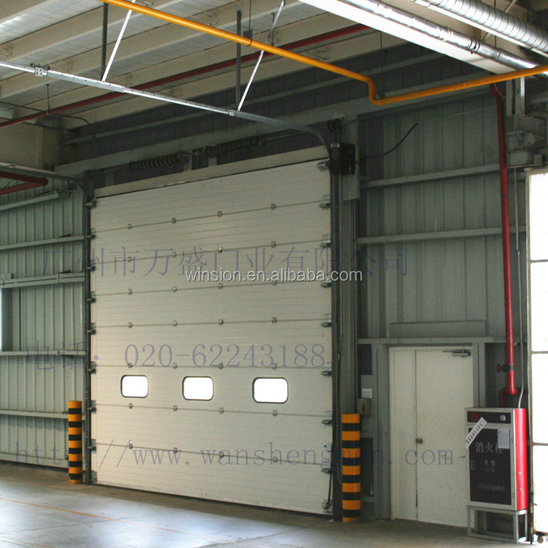 with CE certificate garage door industrial sliding door warehousing sectional door SJM-330