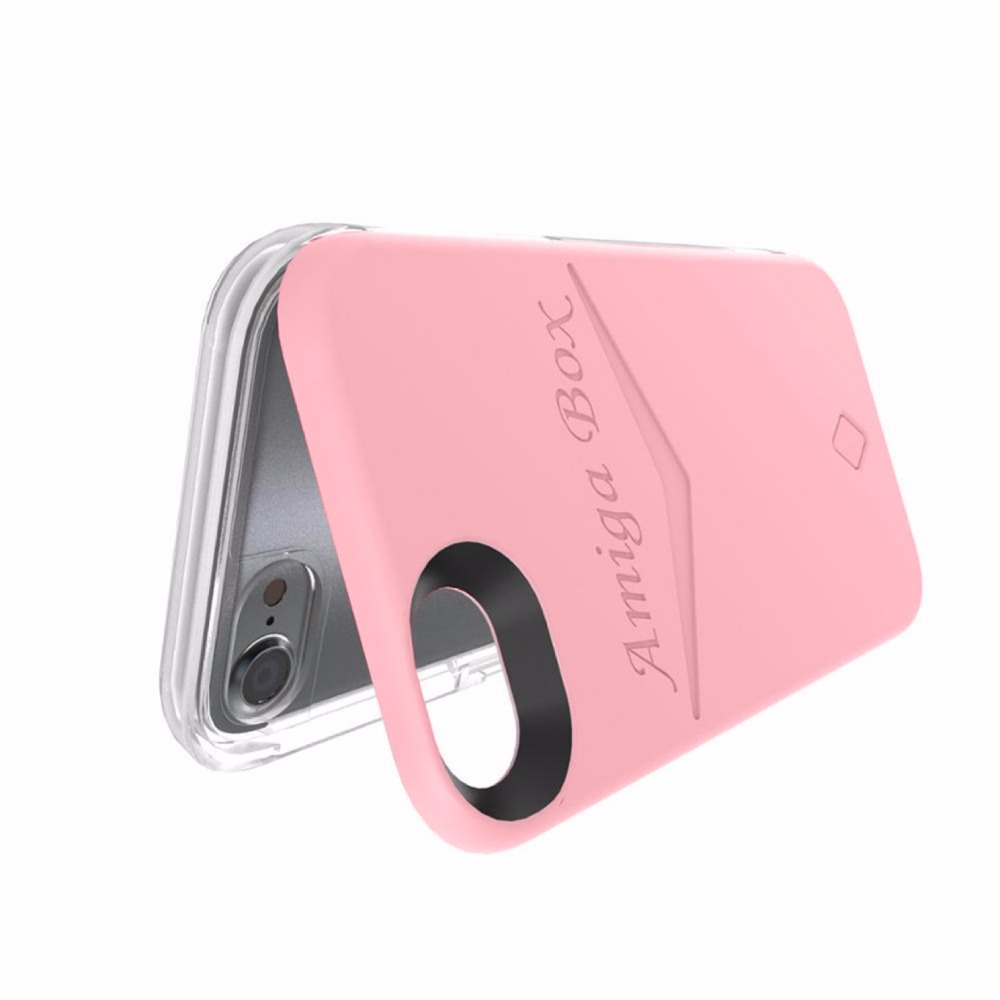 OEM Custom Led Flash Selfie Light up Cell Phone Case with Mirror for iphone 7 plus, i phone 6 Light Up Phone Case