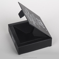 Natural Crystal Essential Oil Soap Packaging supply, black card box design