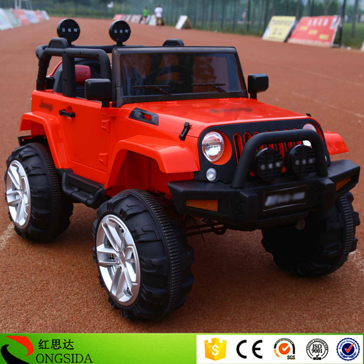 Hongsida 12V Kids Electric Jeep Car Factory Wholesale Baby Ride On Toy Vehicle Children Remoter Control Battery Powered SUV Cars