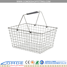 metal shopping basket oem with chrome plated KMD-BM1
