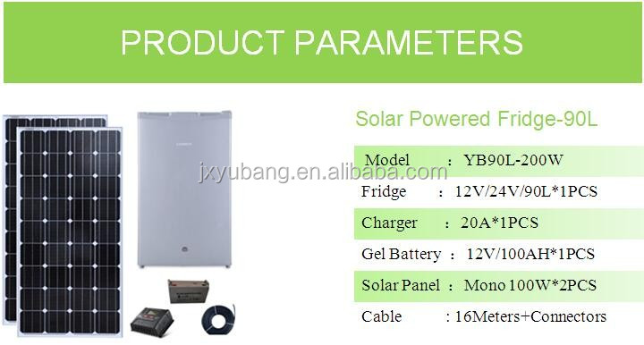 DC12V 90L Solar power refrigerator solar fridge for Africa,middle east,South America
