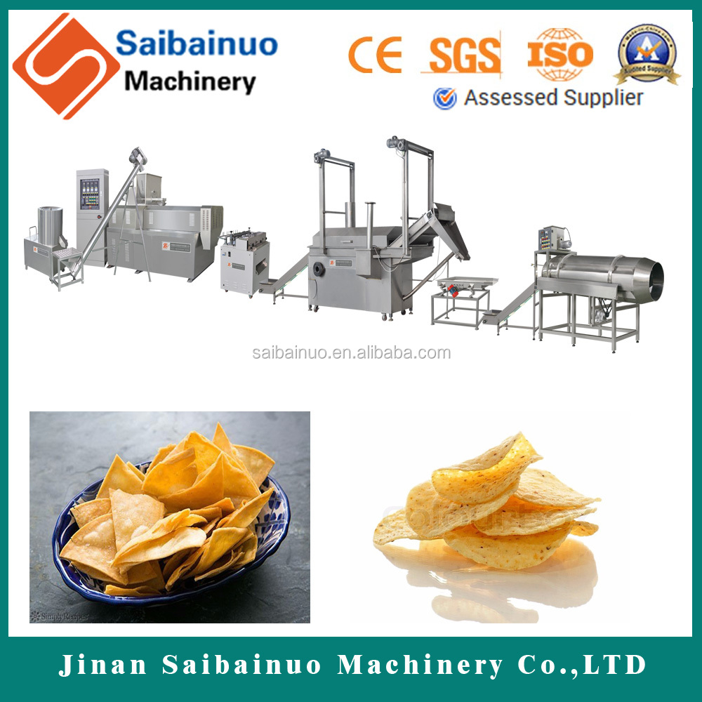 Energy saving doritos tortilla corn chips making machine