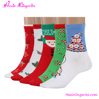 China Manufacturer 5 Pairs Christmas Women Cotton Warm Compression Sock
