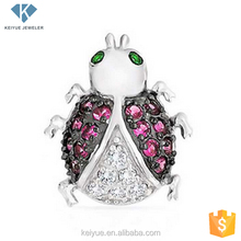 Cute Ladybug white gold plated mangalsutra designs pendant charm