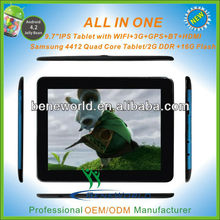 9.7 inch 2gb ram 32gb samsung quad core ram 3g calling gps bluetooth tablet pc cover with keyboard