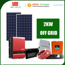on off grid complete kit solar power pv module model system 100 1000 10000 watt 1000w 2 kw 2000w with A grade photovoltaic cells
