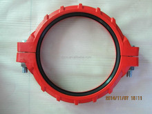 flexible mechanical coupling & clamp on pipe fitting