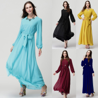 stock Islamic clothing wholesale kaftan dress plain chiffon dress latest abaya designs